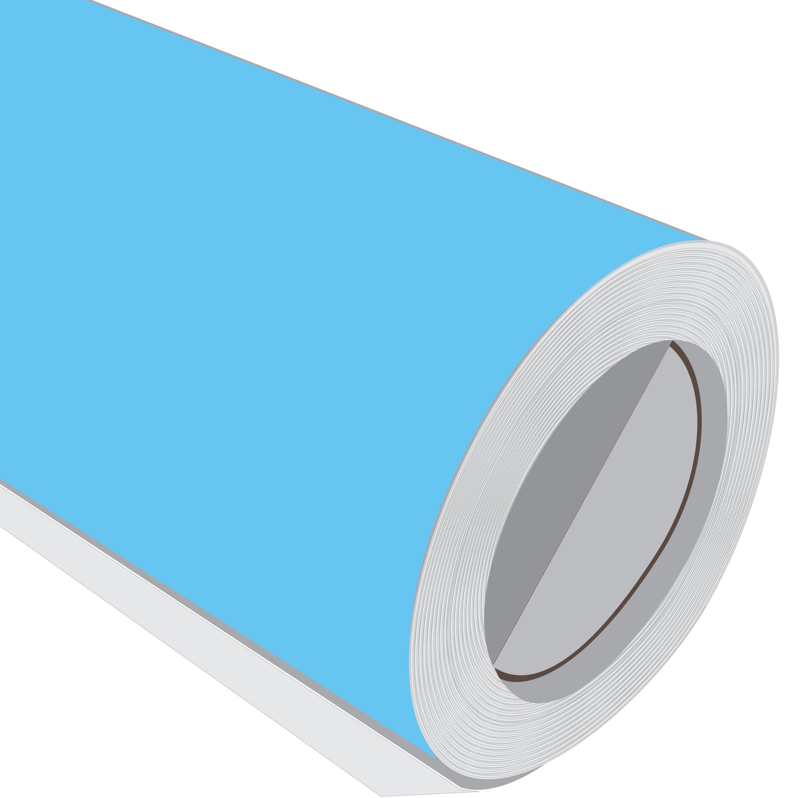 10 Metre (10 m) rollo de HD Arctic azul brillante 610 mm de ancho ...