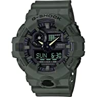 Casio Men's XL Series G-Shock Quartz 200M WR Shock Resistant Resin Color: Matte Olive Green...