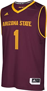 adidas Arizona State Sun Devils NCAA 1 Maroon Replica Basketball Jersey