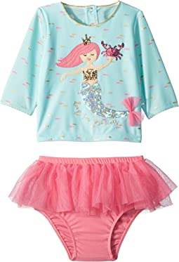 Mermaid Two-Piece Rashguard Swimsuit Set (Toddler)