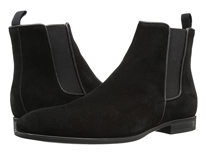 Aquatalia  Adrian (Black Dress Suede) Mens Pull-on Boots