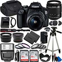 $379 » Canon EOS 2000D (Rebel T7) DSLR Camera with EF-S 18-55mm f/3.5-5.6 DC III Lens & Deluxe Accessory Bundle – Includes: 2x SanDisk Ultra 32GB SDHC Memory Card, Extended Life Battery, Carrying Case & MORE
