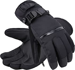 Andorra Men's Thinsulate Insulated Touchscreen Ski Gloves with Zippered Pocket