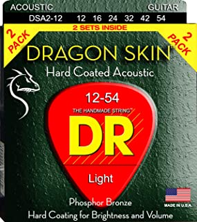 DR Strings DRAGON SKIN Acoustic Guitar Strings (DSA-2/12)
