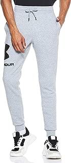 Under Armour Men's Rival Fleece Sportstyle Logo Jogger Pants, Grey (Steel Light Heather/Black), Medium