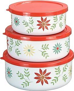 Corelle Coordinates by Reston Lloyd 6-Piece Enamel on Steel Bowl/Storage Set Bowl Set Multicolored 4247