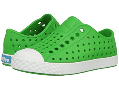 Native Kids Shoes Jefferson (Toddler/Little Kid) (Grasshopper Green/Shell White) Kids Shoes