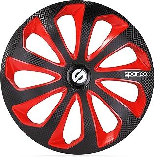 SPARCO SP 1574RDC Set copricerchi Sicilia 15-inch Rosso//Carbonio