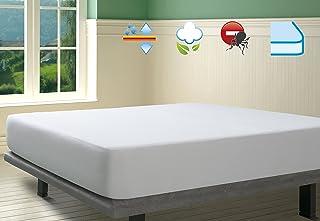 SAVEL, Protector de colchón Rizo 100% algodón, Impermeable y Transpirable, 80x190/200cm (para Camas de 80)