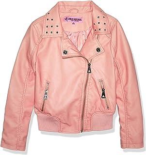 Urban Republic Big Girls Faux Pu Jacket,  624 Rose Smoke,  7/8
