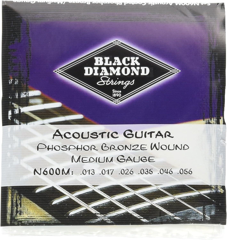 Black Diamond N600M Max 51% OFF Phosphor Super intense SALE Bronze Strings Guitar Med Acoustic