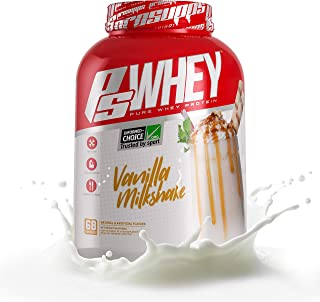 Pro Supps Whey Vanilla Milkshake 5 Pounds, White, 5 Pound