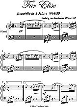 Fur Elise Beethoven Intermediate Piano Sheet Music (German Edition)