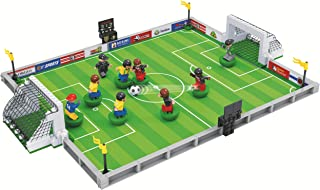 ETINELA Soccer,Practice Match,Football Field,Building Set,Footballer,Referee,9pcs Minifigures Figure,Sport Soccer Game Playable City Pitch