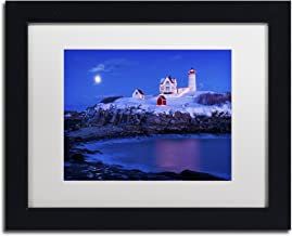 Christmas at Nubble by Michael Blanchette Photography White Matte Black Frame, 11 x 14
