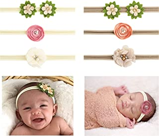 Jiaqee Baby Girl Headband Set- Assorted Headbands Bows Flowers For Newborn Infant Toddlers Kids