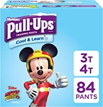 Pull-Ups Cool & Learn, 3T-4T (32-40 lb.), 84 Ct. Potty Training Pants for Boys, Disposable Potty Training Pants for Toddler Boys (Packaging May Vary)