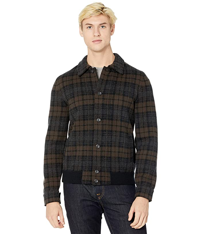 50s Men's Jackets | Greaser Jackets, Leather, Bomber, Gabardine Vince Plaid Sweater Jacket Black Mens Clothing $695.00 AT vintagedancer.com