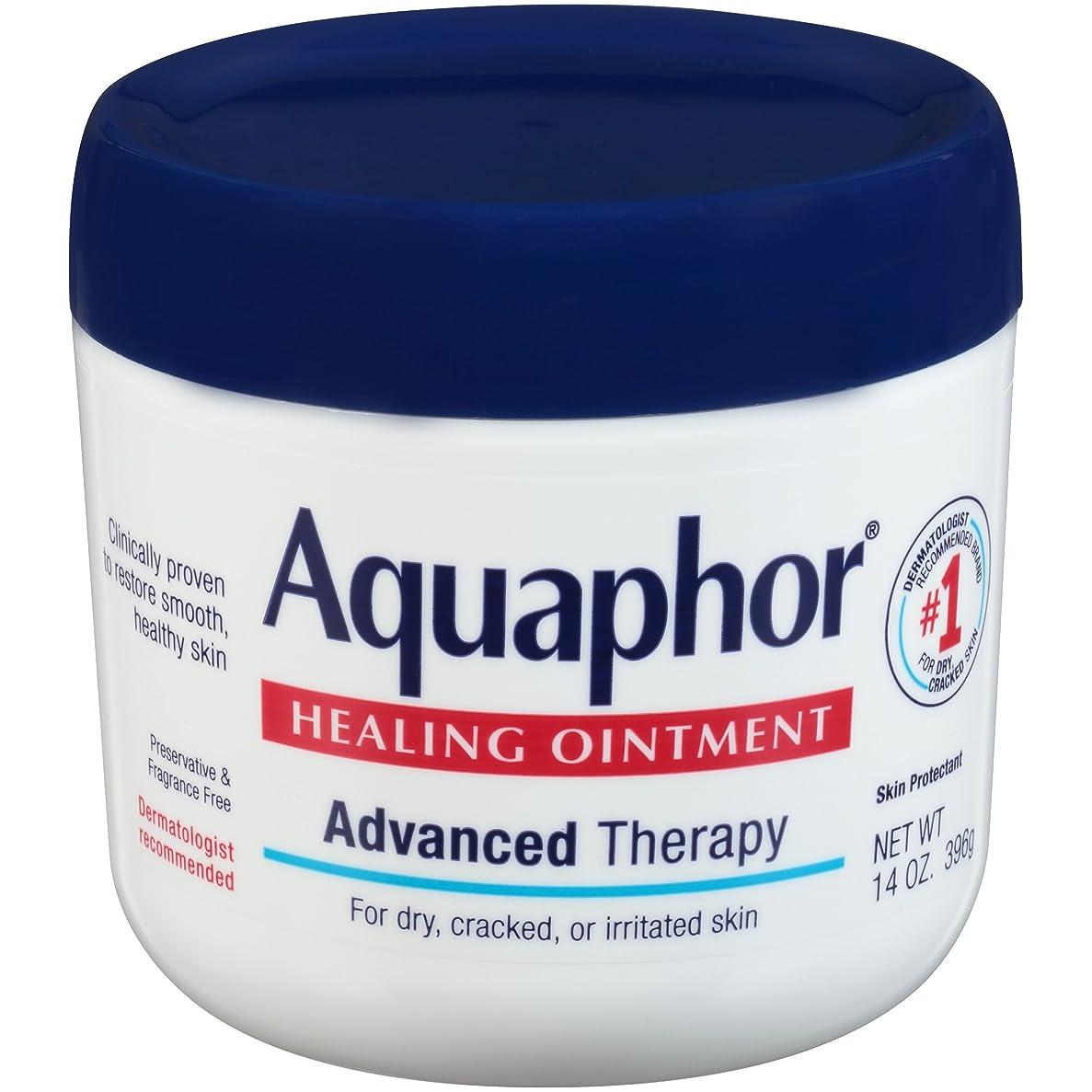 ジャニス適度な呪われた海外直送品Aquaphor Advanced Therapy Healing Ointment, 14 oz by Aquaphor