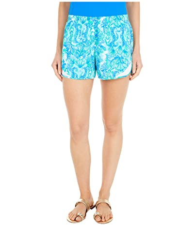 Lilly Pulitzer Ocean Trail Shorts (Seaglass Aqua Seeing Double) Women