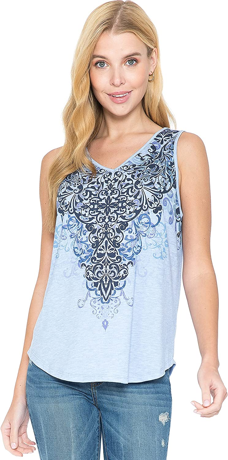 LEEBE Women and Plus Size Printed Tank (Small - 5X)
