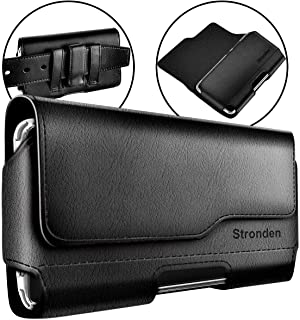 Stronden Samsung Galaxy S10 S9 S8 Holster Case - Belt Case with Clip, Leather Pouch Holster Phone Holder (Fits Phone w/Otterbox Symmetry Case on)