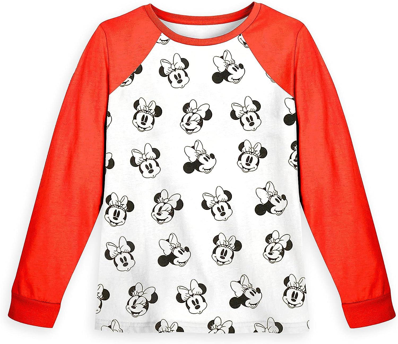 Disney Minnie Mouse Long Sleeve Baseball T-Shirt for Girls