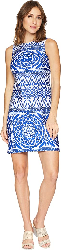 Tribal Print Sleeveless Shift Dress