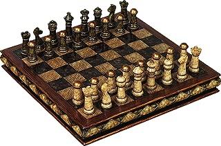 Deco 79 Poly-Stone 象棋套装,25.4 x 7.62 cm