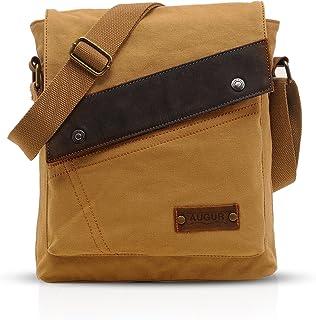 FANDARE Vintage Messenger Bag Umhängetasche Schultertasche Laptoprucksäcke Tasche Crossbody Bag Kuriertasche Frauen Herren Segeltuch Khaki