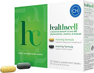 Healthycell AM PM | Natural AntiAging Multivitamin for Men, Women, Supports Cell Health, Stem Cells, Energy, Sleep | Veget...