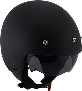 Milwaukee Performance Helmets Unisex-Adult Open face Accelerator Helmet (Mat Black, X-Small)