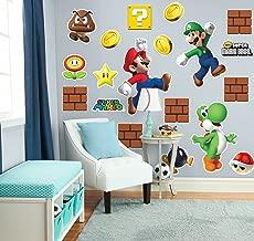 Super Mario Bros. Mario, Luigi and Yoshi Giant Wall Decals Combo Kit