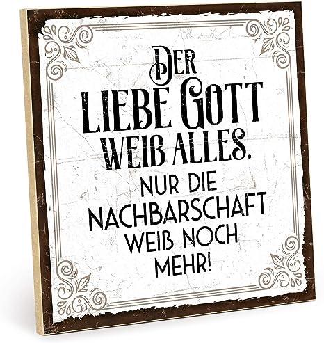 Amazon De Typestoff Holzschild Mit Spruch Nachbarschaft Im Vintage Look Mit Zitat Als Geschenk