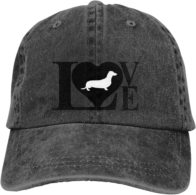 Love Dachshund Dog2 Adjustable Trucker Hat Stylin Hats