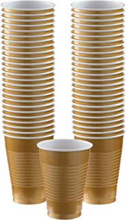Big Party Pack Gold Plastic Cups   12oz.   Pack of 50   Party Supply