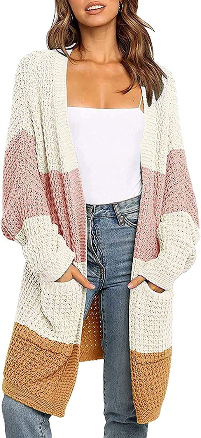 SYXMSM Women s Cardigan Sweater Long Ranking TOP19 Open Front Batwing Max 63% OFF C Sleeve