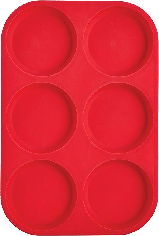 Mrs Anderson S Baking 43817 6 Cup Muffin Top Pan Non Stick European Grade Silicone