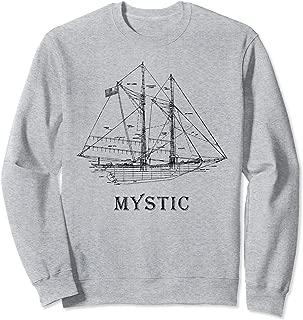 Sailing T-Shirt Vintage Blueprint Mystic,CT Sailing Gift Sweatshirt