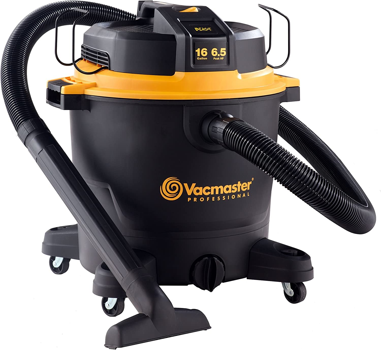 Vacmaster Professional - Professional Wet Dry Vac, 16 Gallon, Beast Series, 6.5 HP 2-1 2  Hose (VJH1612PF0201)