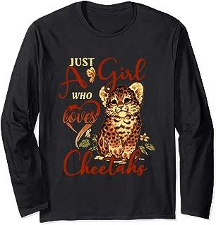 Just a Girl Who Loves Cheetahs Sunflower Tee Gift Long Sleeve T-Shirt