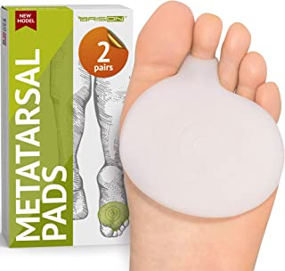 Metatarsal Pads Ball of Foot Cushions – Soft Gel Ball of Foot Pads – Mortons..