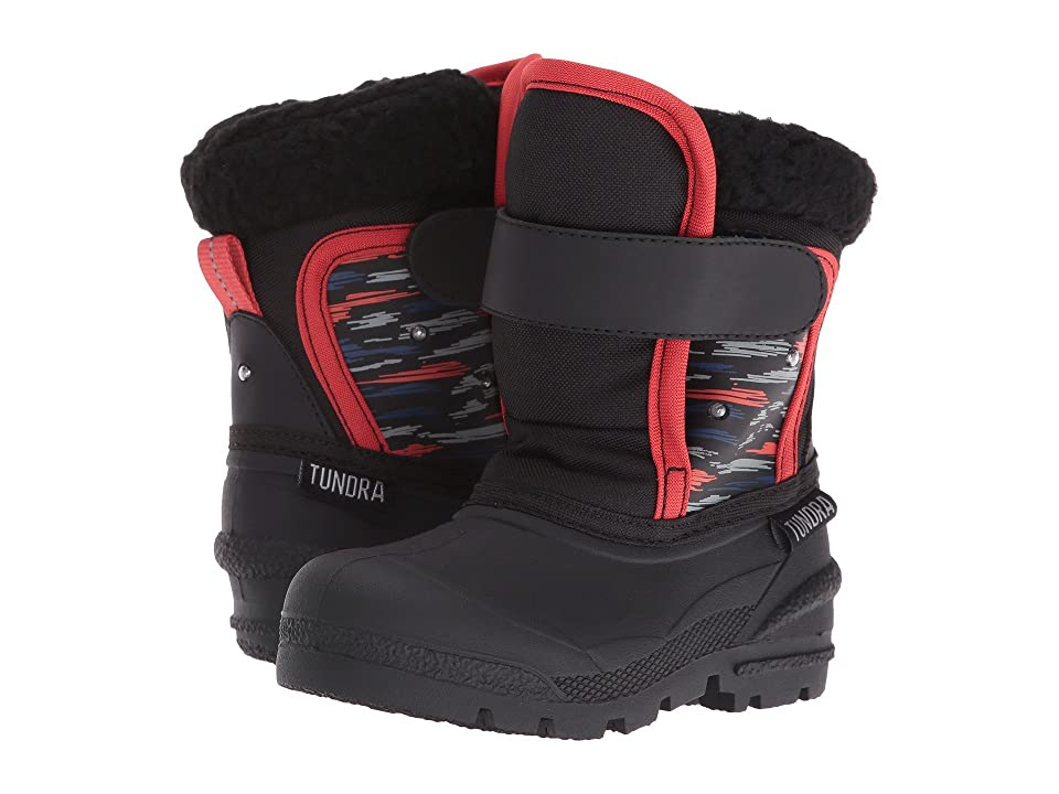 Tundra Boots Kids Midnight (Toddler) (Black Print) Boys Shoes