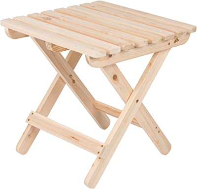 Shine Company Inc 4109N Adirondack Square Folding Side Table, Natural
