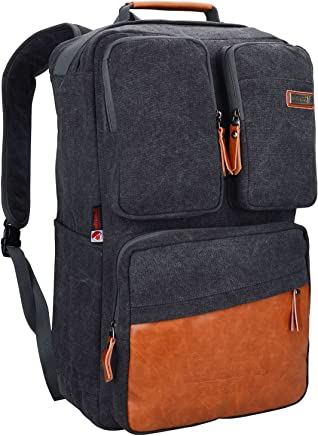 35c829eadf68 WITZMAN Men Retro Canvas Backpack Travel Rucksack Casual Duffel Bag