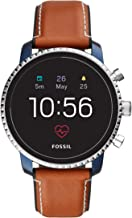 Fossil Men's Gen 4 Explorist HR Stainless Steel Touchscreen Smartwatch with Heart..