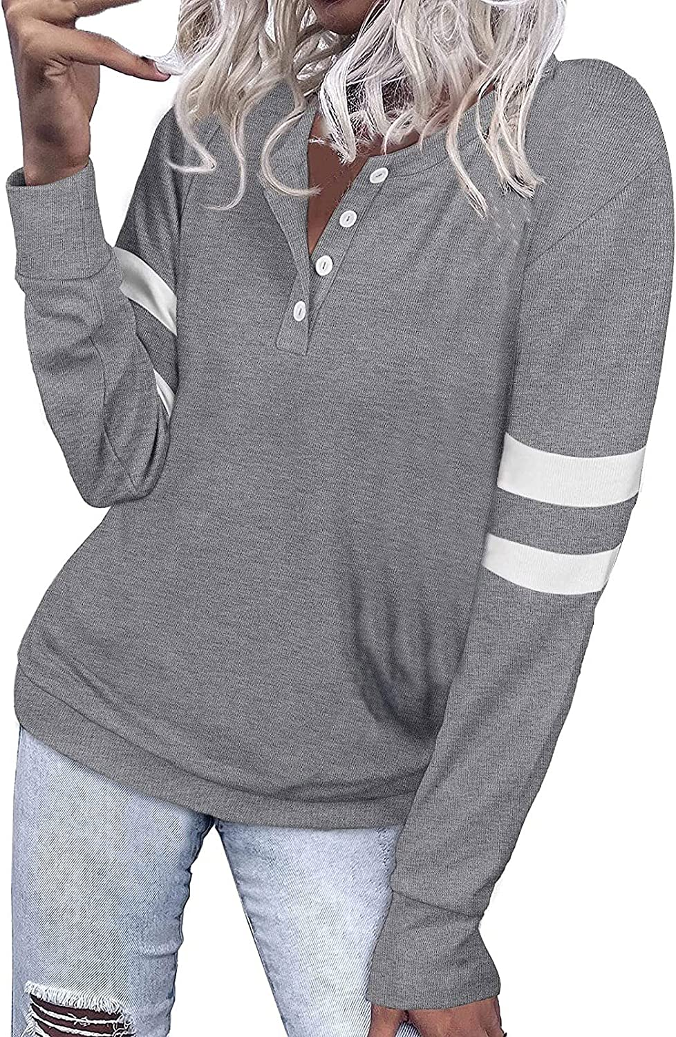 GDJGTA Tunic for Women Brand Cheap Sale Venue Autumn online shop Pullover Shirts Button Casual up T