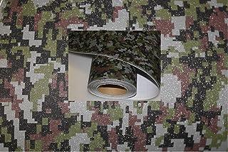 Könighaus (15,13€/m2) Glitter Digital Camo 100 x 152 cm blasenfrei mit Anleitung (Camouflage Autofolie)