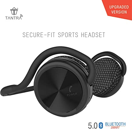 Tantra Groove Sports Bluetooth Headphone 5.0 on-Ear Wireless Earphone (Black)