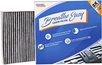Spearhead Premium Breathe Easy Cabin Filter, Up to 25% Longer Life w/Activated Carbon (BE-002)